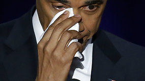 Jautri B.Obamos atsisveikinimo kalba sugraudino dukrą, ašarą braukė ir pats