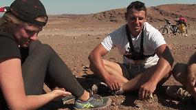 Kelionė po Namibiją dviračiais: kaip sekėsi ištverti kelionę kartu?