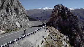 Į vieną aukščiausių kalnų Europoje – vienbėgiu dviračiu