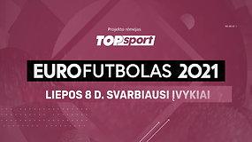 """""""Eurofutbolas 2021"""": liepos 8 d. svarbiausi įvykiai"""