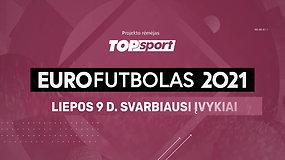 """""""Eurofutbolas 2021"""": liepos 9 d. svarbiausi įvykiai"""
