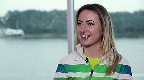 Geriausia buriuotoja V.Andrulytė – apie pirmas varžybas, treniruotes su delfinais ir pasiruošimą olimpiadai