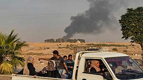 Turkija pradėjo sausumos puolimą prieš kurdų pajėgas Sirijoje –  žuvo mažiausiai septyni civiliai