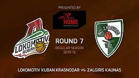 """Eurolyga: Krasnodaro """"Lokomotiv"""" – Kauno """"Žalgiris"""""""