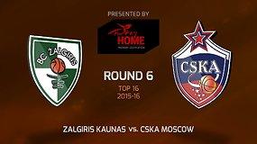 """Eurolyga: """"Žalgiris"""" – CSKA"""