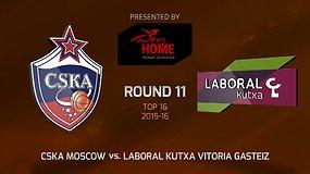"Eurolyga: Maskvos CSKA – Vitorijos ""Laboral Kutxa"""