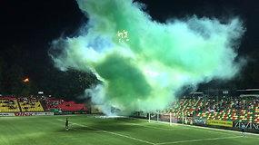 """""""Pietų IV"""" dūmuose paskandino LFF stadioną"""