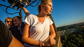 Solveiga Mykolaitytė pakilusi oro balionu virš Vilniaus privalėjo praleisti lėktuvą