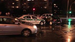 Policijos pareigūnė Vilniuje sukėlė avariją