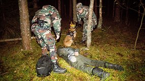 Pasieniečių operacija  – blokuotas pasienis, pakeltas sraigtasparnis ir sulaikyta nelegalų grupė