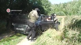 Unikalūs vaizdai iš slaptos policijos operacijos: sulaikyti ginklus vogę nusikaltėliai