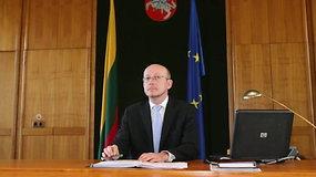 2009 sausio 20 d. Seimo pirmininko A.Valinsko kalba ir atsakymai į klausimus dėl riaušių prie Seimo