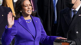 Kamala Harris tapo pirmąja afroamerikiete moterimi, užėmusia JAV viceprezidentės pareigas