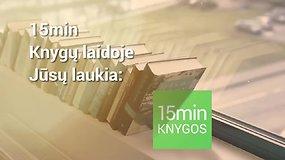 15min laida apie knygas
