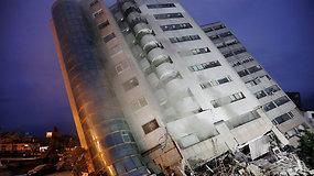 Stiprus žemės drebėjimas Taivane: gelbėtojai ieško griuvėsiuose įstrigusių žmonių