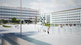 Štai taip atrodys baigiama rekonstruoti Vienybės aikštė Kaune