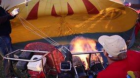 Skrydis oro balionu virš Birštono