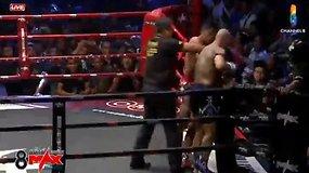 Įspūdingas Sigito Gaižausko nokautas Tailando ringe: varžovas nekilo