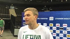 Dainiaus Adomaičio komentaras prieš rungtynes su Suomija