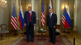"""Su V.Putinu susitikęs D.Trumpas: """"Pasaulis nori, kad mes sutartume"""""""