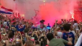 Kroatija savo futbolinininkus sutiko tarsi čempionus
