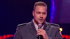"""""""Lietuvos balse"""" – policijos pareigūno pasirodymas"""