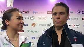 A.Reed ir S.Ambrulevičiaus įspūdžiai po debiuto Europos dailiojo čiuožimo čempionate