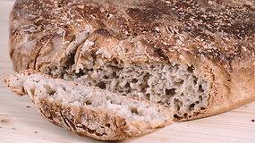 Neminkyta duona su ruginiais miltais pagal Liutaurą Čepracką