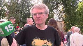 Mitingo organizatorius S.Gorodeckis: Mindaugas išžudė pusė savo pusbrolių, bet vis tiek jį garbinam