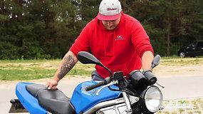 Ugniagesiu tapęs biologas gelbėja ir motociklininkus