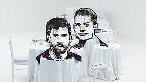 Pasaulio žiniasklaidą apskriejusios instaliacijos su C.Ronaldo kūrimo užkulisiai