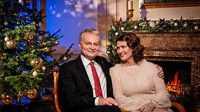 Prezidento Gitano Nausėdos ir pirmosios ponios Dianos Nausėdienės kalėdinis sveikinimas