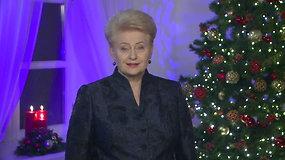 Dalios Grybauskaitės kalėdinis sveikinimas