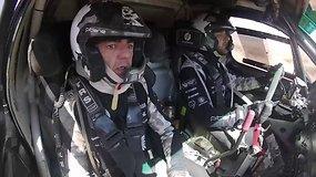 Iš arčiau Dakaro nepamatysi: B. Vanago važiavimas iš bolido vidaus