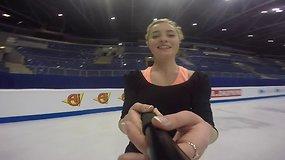 Gražuolė ant ledo: susipažinkite – geriausia Lietuvos čiuožėja Aleksandra Golovkina