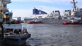 Į Klaipėdą atplaukė Rusijos persekiotas amerikiečių karo laivas