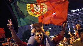 Portugalai futbolininkų triumfą šventė griausmingai
