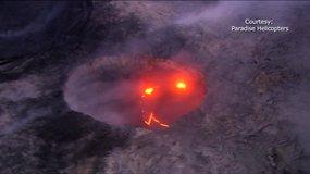 Havajuose įspūdingą gamtos spektaklį sukūrė lavos kriokliai