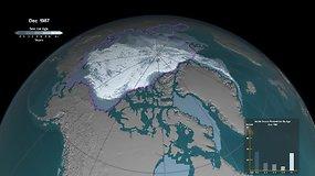 NASA pavaizdavo, kaip sparčiai traukiasi Arkties ledynai