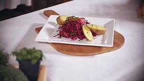 Vaidos Kurpienės raugintų kopūstų ir burokėlių salotos (receptas)