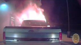 Teksase policininkas tarnybiniu automobiliu apsaugojo restoraną nuo gaisro