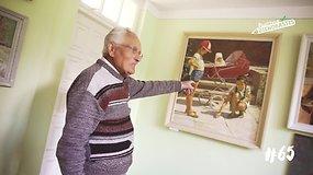 91 metų senolis įkvėpimo tapyti semiasi internete