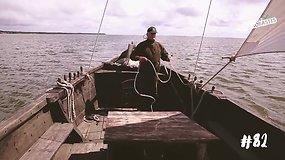 Šiporius Aurelijus didžiuojasi savo laivu, be kurio neįsivaizduoja Kuršių nerijos