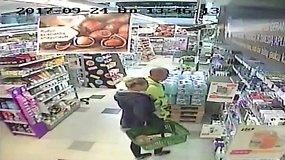 Policija ieško ilgapirščio, nugvelbusio skustuvą
