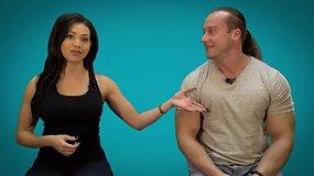 Ar sportuodama galiu padailinti krūtinę?