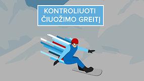 Taisyklės, kurias svarbu žinoti: kaip elgtis slidinėjimo trasose?
