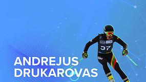 Susipažinkite su olimpiečiais. Kalnų slidininkas Andrejus Drukarovas treniruotes lanko jau nuo 11 metų