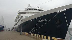 """Į Klaipėdą atplaukė pirmasis šį sezoną kruizinis laivas """"Astoria"""""""