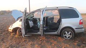 Panevėžio rajone į arimą nulėkė Ford Galaxy