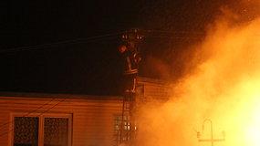 Panevėžyje sudegė gyvenamasis namas